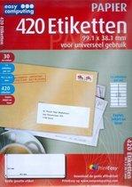 Easy Computing 4381 etiket Wit 420 stuk(s)