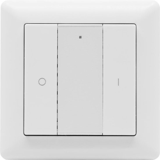 icasa Zigbee 3.0 wandschakelaar | Aan/Uit -Dimmen | Past in 55mm frame | Compatible met Zigbee 3.0 Gateway (Zoals Homey, Hue®*, IKEA Home smart®*, Echo Plus®*)
