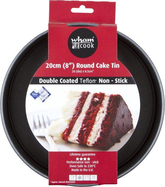 Wham Cook Essentials Taartvorm - Non Stick - Rond - Met Losse Bodem - 20 cm