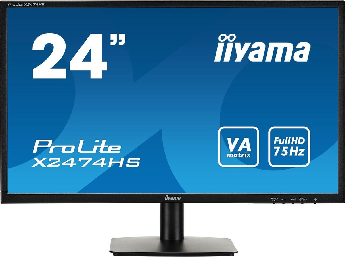Iiyama ProLite X2474HS-B1 - Full HD VA Monitor - Iiyama