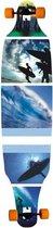 Longboard Move twin: Blue Surf 104 cm/ABEC7 (991401)