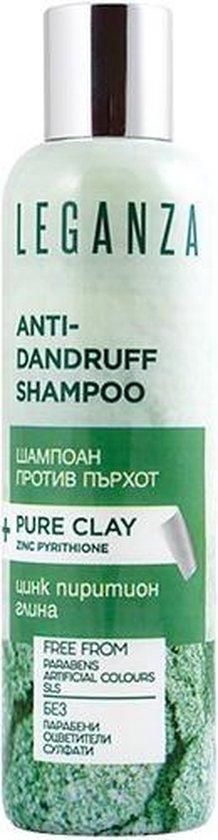 Leganza Sulfaatvrije Shampoo met Pure Klei en Zirkonium Zonder Sulfaat, Sulfaten, SLS, Parabenen, Kleurstoffen o.a. Anti-Haaruitval, Haargroei, Volume 200ml