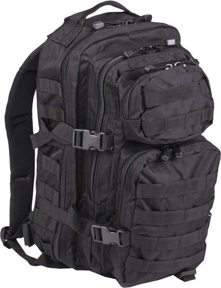 Miltec Backpack US Assault Molle Large - Rugzak - Zwart - 36 L