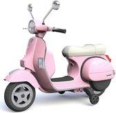 Vespa Elektrische Kinderscooter / Kindermotor 12V | MP3 | Verlichting | Zijwieltjes | Lederen zadel