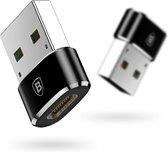Baseus Adapter van USB-C naar USB - zwart