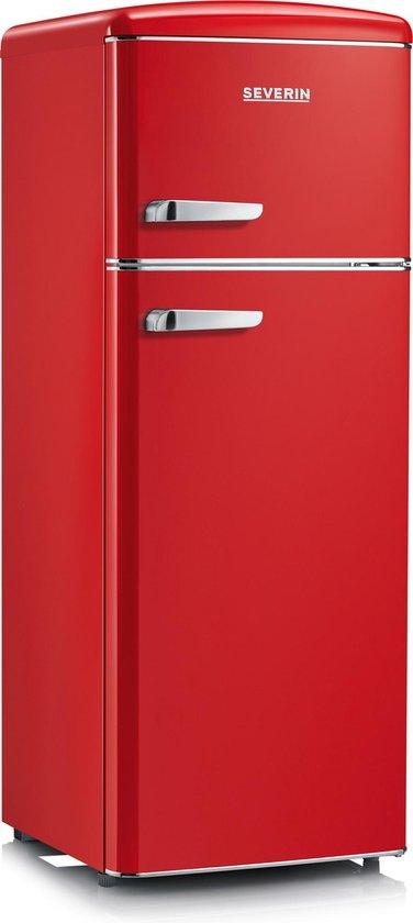 Koelkast: Severin RKG 8930 - Compacte Retro Koel-vriescombinatie - rood, van het merk Severin