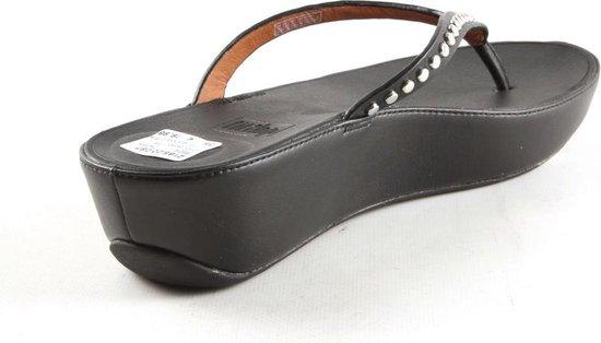 Dames Slippers Fitflop Fitflop Linny Rockstud Black Beige - Maat 41 S4kckPDr