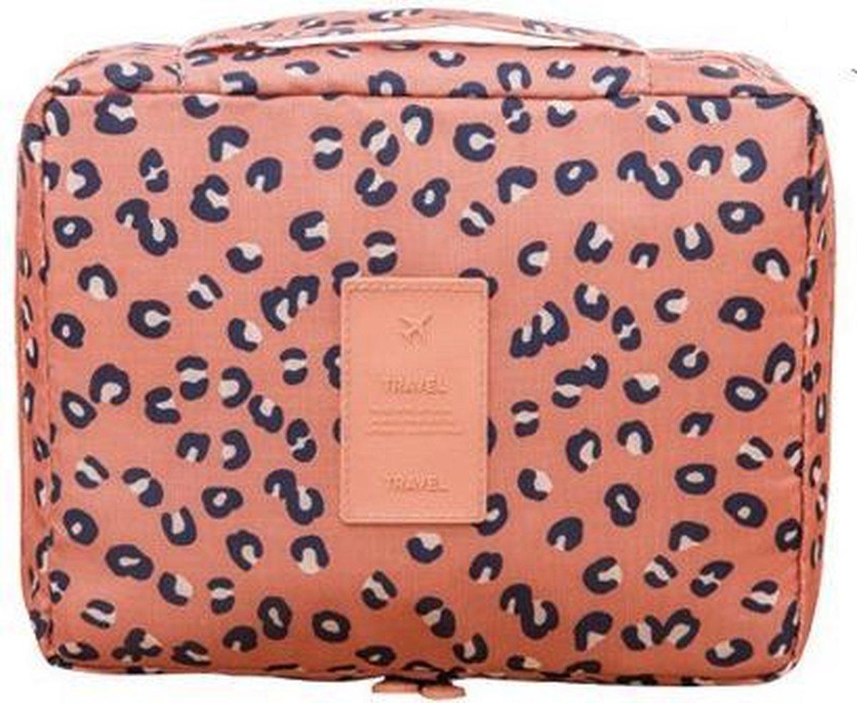Travel 'Leopard' Toilettas Luipaard   Make Up Organizer/Travel Bag/Reistas   Fashion Favorite