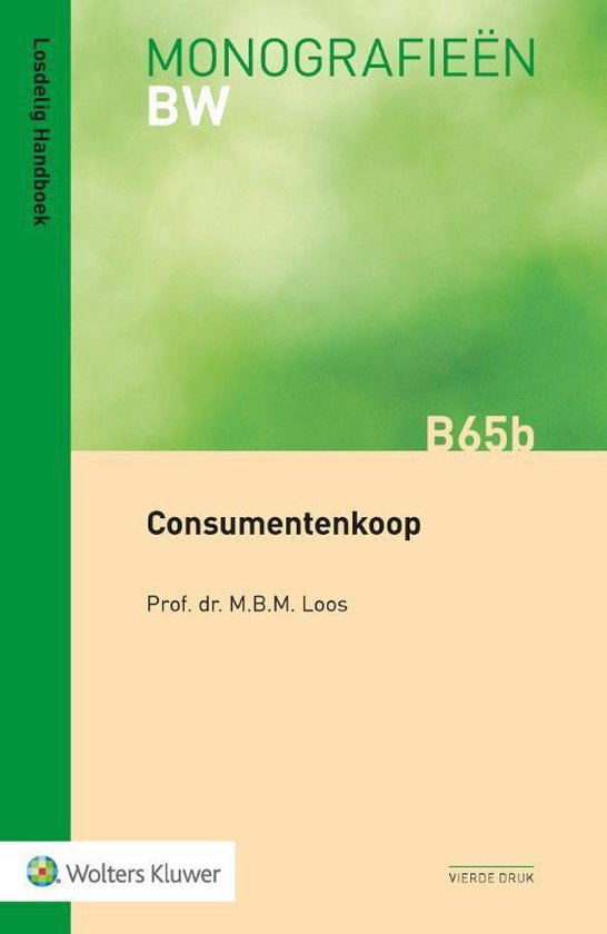 Monografieen BW B65b - Consumentenkoop - M.B.M. Loos |