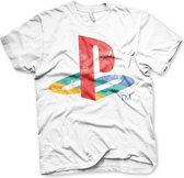 PLAYSTATION - T-Shirt Distressed Logo - WHITE (XL)