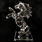 Kristal - Glas paard stand 10x7x20 cm Handgemaakt echt ambacht!