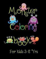 Monster Coloring Book for Kids 3-8 Yrs.