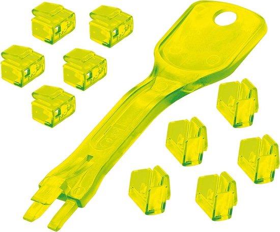 Lindy RJ45 Port Schlösser GELB 10 stuks + 1 sleutel