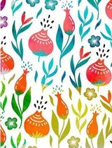 Composition Notebook College Ruled with Vibrant Watercolor Flowers Cover