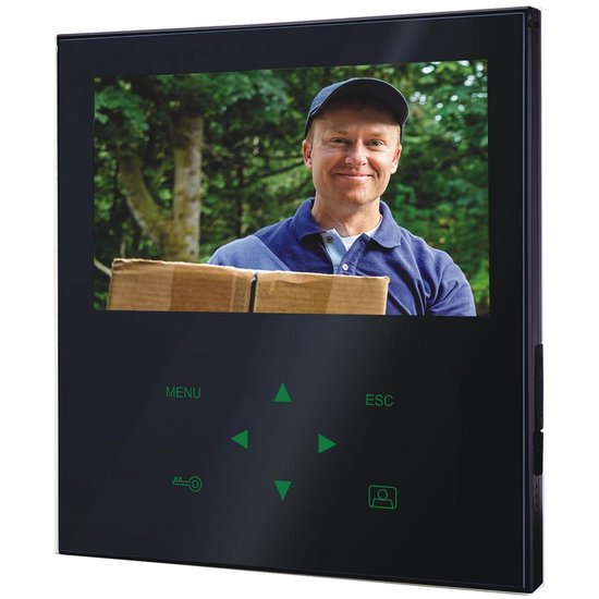 "Smartwares VD71Z  - Video deurintercom - 7"" Flatscreen - 4 draads - 2-weg audio - zwart"