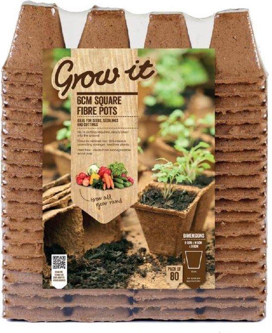 Grow-it Vierkante Vezel Pot 6cm 80st