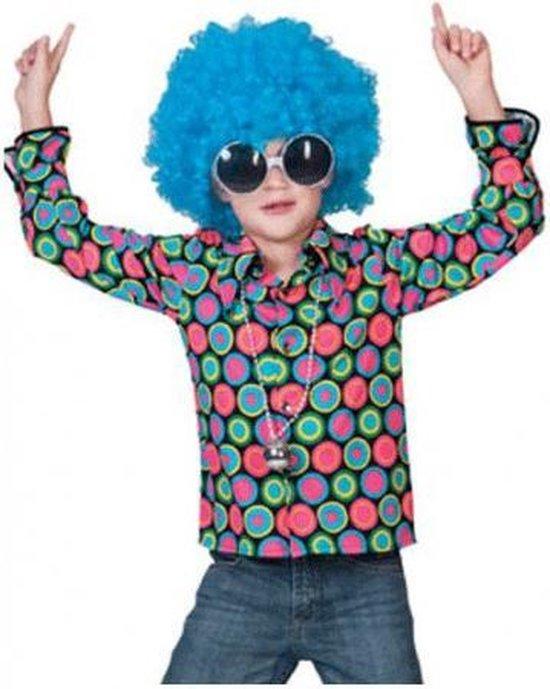 Jaren 70 disco overhemd voor kids 116 (6 jaar)