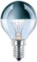 Kopspiegellamp E14 45x75mm 230V 25W Zilver