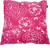 In The Mood Tropic Flower - Sierkussen - 50x50 cm - Fuchsia