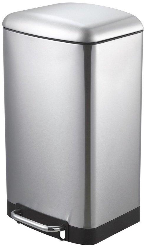 MaxxHome Pedaalemmer - Vuilbak - 30L - RVS - geruisloos - 62cm