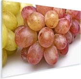 Close-up van rode druiven op een witte achtergrond Plexiglas 30x20 cm - klein - Foto print op Glas (Plexiglas wanddecoratie)