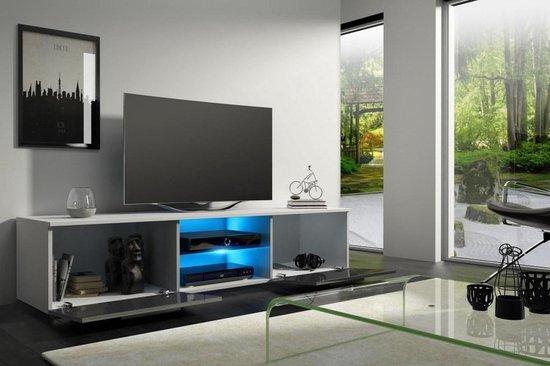 Bol Com Tv Kast Hoogglans Wit Modern Design Inclusief Led Verlichting