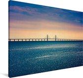Brug in het Europese Zweden Canvas 30x20 cm - klein - Foto print op Canvas schilderij (Wanddecoratie woonkamer / slaapkamer)