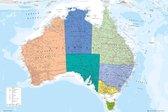 Australië kaart Australia poster