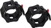 Tunturi Olympic Lock Jaw Collars - Halterstangsluiters - Paar - Zwart