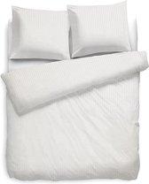 Heckett Lane Uni Stripe - Dekbedovertrek - Lits-jumeaux - 260 x 200/220 cm - Off-white