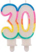 Glitter cijferkaars 30 jaar