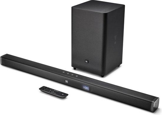 JBL Bar 2.1 - Soundbar met draadloze subwoofer - Zwart