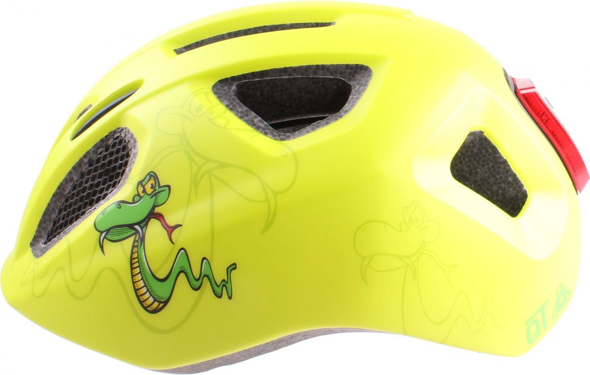 Cycle Tech Kinderhelm Snake Junior Geel Maat 54/58