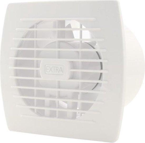 | Badkamer ventilator diameter 120 mm WIT met TIMER