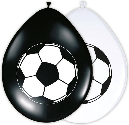 Ballonnen met Voetbal 30cm - 8 stuks