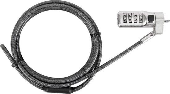 Targus ASP86GL kabelslot Zilver 2 m