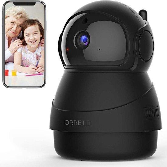 Orretti® X8 1080P FHD WiFi IP Beveiligingscamera met Bewegingsdetectie - bewakingscamera - Babyfoon met camera - Zwart