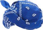 NINGBO PARTY SUPPLIES - Blauwe bandana - Accessoires > Haar accessoire