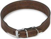 Beeztees Cork - Hondenhalsband - Leer - Bruin - 51-55 cm x 35 mm