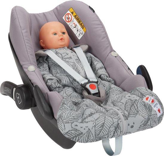 Lodger Baby slaapzak - Hopper BotAnimal - Grijs - Lange mouw - 68/80