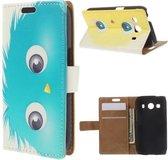Blue animal wallet hoesje Samsung Galaxy Ace 4