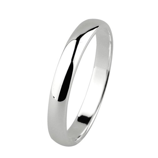 Dito relatiering - zilver - glanzend - afgerond - 3 mm breed - maat 52 - Silver Lining