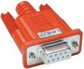 Lindy Serieller LoopBack stekker 9 polig Sub-D koppeling rood
