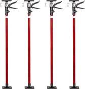 TecTake - set van 4 plafondsteunen 115 - 290 cm - rood - 402401