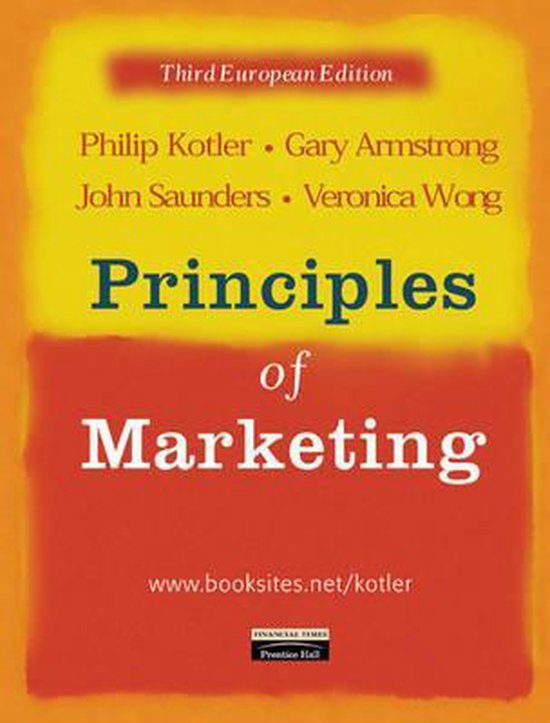 Boek cover Principles of Marketing van Phil T. Kotler (Paperback)