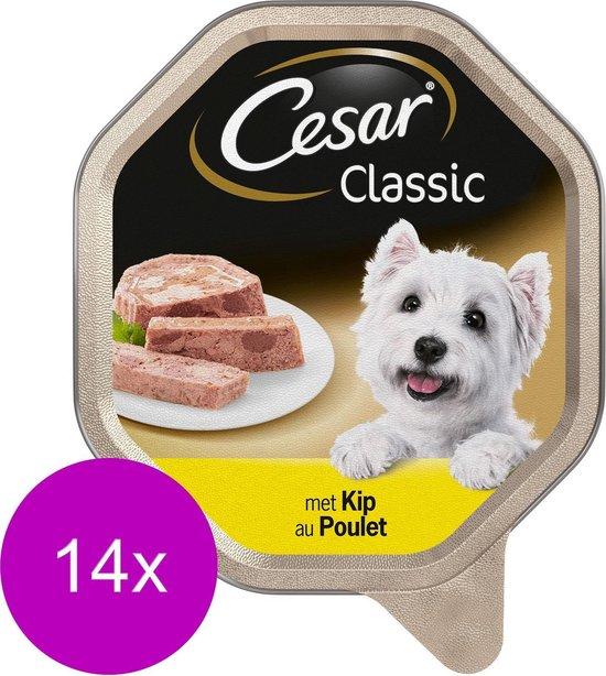 Cesar - Classic - Paté kuipje - Kip - Hondenvoer - 14 x 150 g