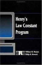 Henry's Law Constant Program