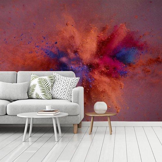 Kleurrijke poederpexplosie fotobehang vinyl breedte 480 cm x hoogte 360 cm - Foto print op behang (in 7 formaten beschikbaar)