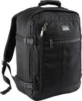 CabinMax Metz – Handbagage - Rugzak 30l– Schooltas - 45x35x20cm – Lichtgewicht - Zwart (MZ 30-BK)