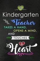 A Kindergarten Teacher takes a Hand and touches a Heart